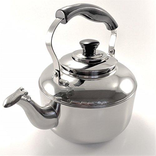 Tea Kettle Stainless Steel Whistling Teapot Teakettle for Stovetop Rust Resistant Mirror Finish 2Liter (Dishwasher Safe Stainless Steel Kettle)