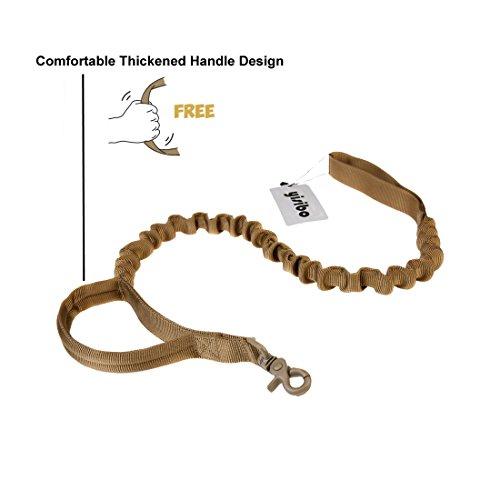 yisibo-Tactical-Bungee-Dog-Leash-2-Handle-No-Pull-Military-Dog-Training-Leash