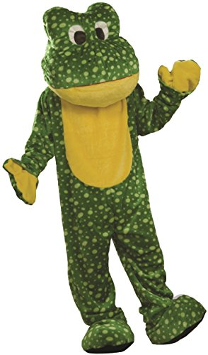 Deluxe Frog Mascot Costumes (Forum Novelties Men's Frog Mascot Costume Deluxe Plush Suit Outfit One Size Fits Most Green)