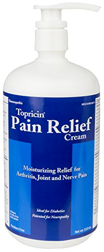 Topricin Pain Relief Therapy Cream  32 Oz  Fast Acting Pain Relieving Rub For Arthritis  Back   Neck Aches  Fibromyalgia  Sciatica  Plantar Fasciitis  Sore Muscles   Joints Carpal Tunnel  Chronic Pain