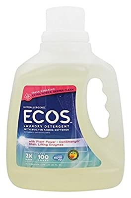 Earth Friendly, Eco'S Laundry Detergent; Fresh Geranium, Pack of 4, Size - 100 FZ, Quantity - 1 Case