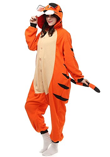 Angelstormy Adult Bengal Tiger Cosplay Pajamas - Hooded