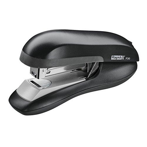 Flat Clinch Half Strip - Rapid 76082 F30 Flat Clinch Half Strip Stapler, 30-Sheet Capacity, Black (RPD76082)