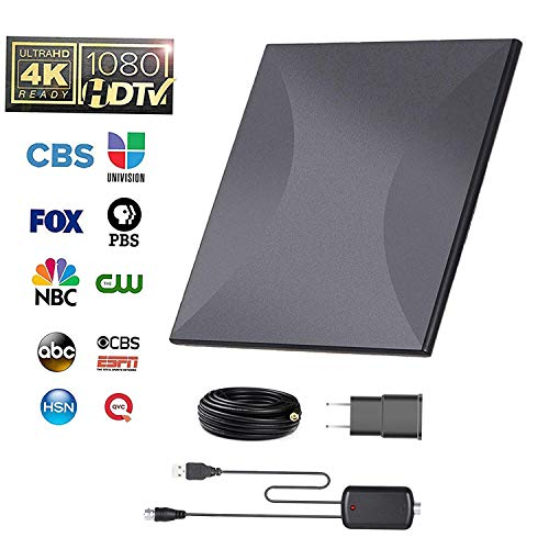Omni-Directional Outdoor Amplified HD Digital TV Antenna 150 Miles Range with Powerful HDTV Amplifier Signal Booster Support 4K 1080p Channels & All Older TV's for Outdoor, Attic,RV - 32ft Coax Cable by AatalTV