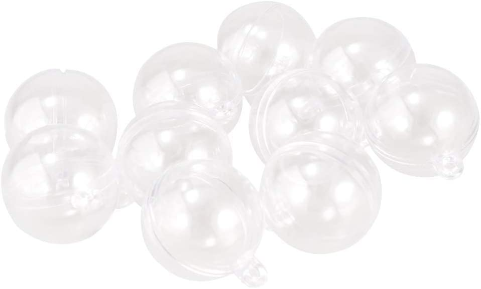 1-10X Clear Plastic Balls Baubles Sphere Fillable Christmas Tree Xmas P4X1