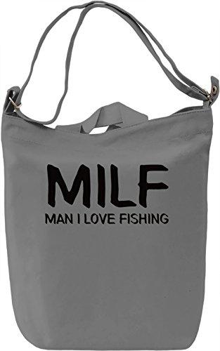 I love fishing Borsa Giornaliera Canvas Canvas Day Bag| 100% Premium Cotton Canvas| DTG Printing|