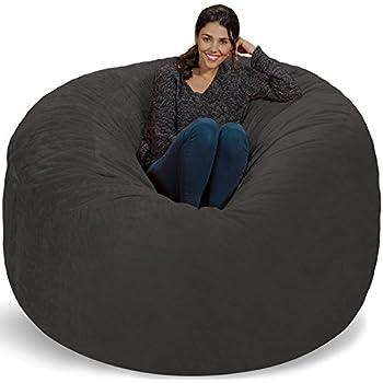 chill sack bean bag chair huge 6 39 memory foam furniture bag and large lounger big. Black Bedroom Furniture Sets. Home Design Ideas