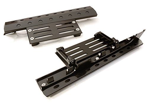 Integy RC Model Hop-ups C26892BLACK Billet Machined Realistic Deluxe Side Step for SCX-10, Dingo, Honcho & (Deluxe Billet)