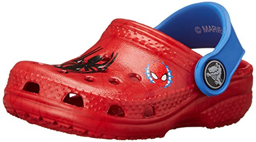 Image of crocs Kids' Classic Spider-Man Clog (Infant/Toddler/Little Kid) Red 4/5 M US Toddler