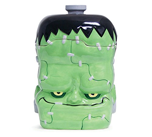 Buton and Burton Halloween Decor Ceramic Frankenstein Monster Cookie Jar (Monster Halloween Cookies)