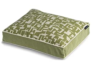 Fabric Modern Rectangle Pet Bed, Green, Small