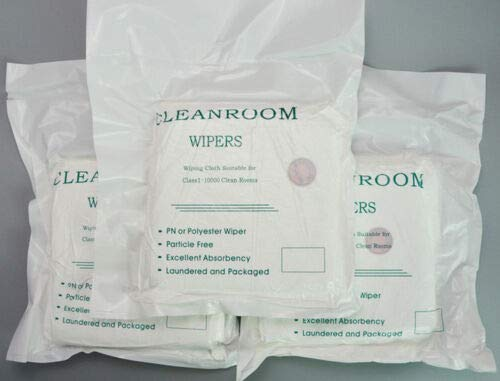 """NEW CLEANING CLOTHS ESD WipersMulticomp 9""""X9"""" 100 Sheets CLEANROOM WIPE CLOTH"""