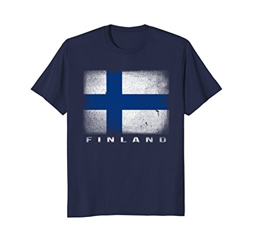 Mens Finnish Flag T-shirt Finland Suomi . Large Navy Finland Flag T-shirt
