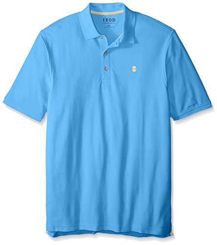 Advantage Collection - IZOD Men's Big and Tall Advantage Performance Solid Polo, Blue Revival, 4X-Large Big