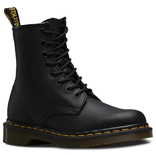 Dr. Martens 1460 8 Eye Boot, Black Greasy ,7 UK/Men's 8, Women's 9 US