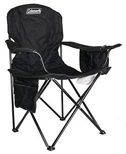 Coleman Cooler Quad Portable Camping Chair, Black