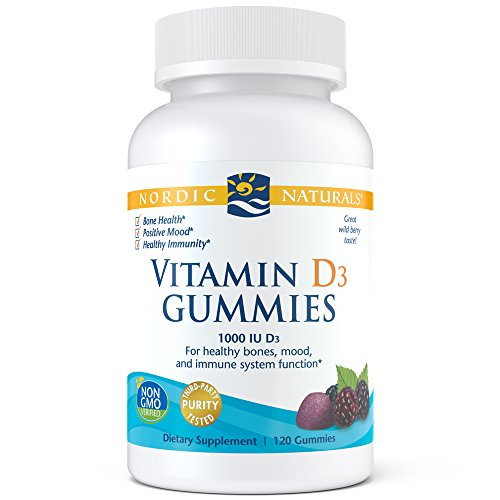 Nordic Naturals Vitamin D3 Gummies, 1000 Iu Vitamin D3 Cholecalciferol, 120 Count (Best Vit D For Kids)