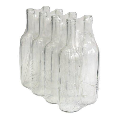 8 x 0.75ml BOTTLE GLASS BORDEAUX FOR HOMEBREW WINE MAKING - WHITE GLASS Biowin
