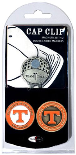 (Team Golf NCAA Tennessee Volunteers Golf Cap Clip with 2 Removable Double-Sided Enamel Magnetic Ball Markers, Attaches Easily to Hats )