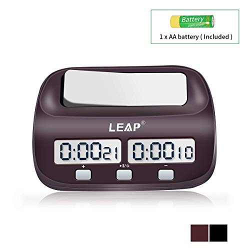 LEAP Chess Clock Digital Chess Timer Professional for Board Games Timer with Alarm Function (Official - Chess Clock