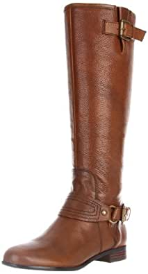 Enzo Angiolini Women's Visco Riding Boot,Cognac Leather,5 M US