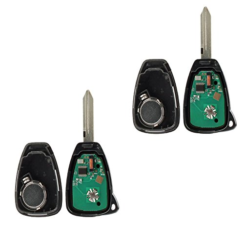 Car Key Fob Keyless Entry Remote fits Chrysler Aspen Pt Cruiser / Dodge Caliber Dakota Durango Magnum Nitro Ram / Jeep Compass Patriot Wrangler / Mitsubishi Raider (OHT692427AA 3-btn), Set of 2 by USARemote (Image #3)