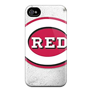 Shockproof Hard Cell-phone Cases For Iphone 6plus (Xyi8492lKdw) Allow Personal Design High Resolution Cincinnati Reds Pattern