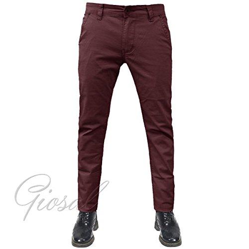 Elastico Vari Colori Mod Blu Chino Uomo Cotone Giosal Slim Tasca Pantalone America 8qRvx7wp
