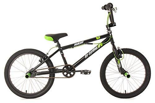 KS Cycling Jungen Fahrrad BMX Freestyle Hedonic, Schwarz, 20, 592B