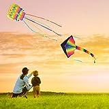 Kupton 2 Pack Kites Kit, 5M Large Octopus Kite and