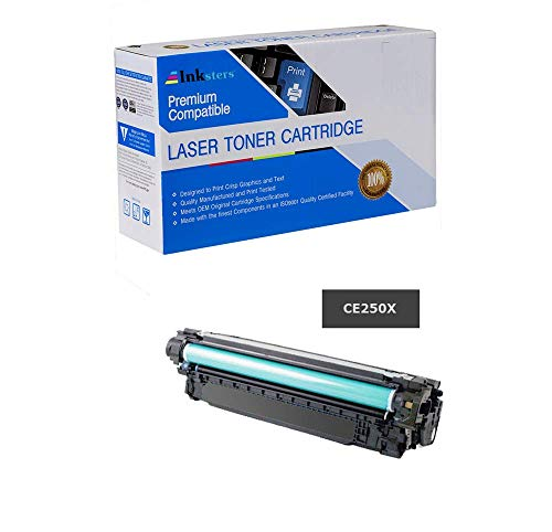 Inksters Compatible Black Toner Cartridge Replacement for HP 504X (CE250X) High Capacity - Compatible with Color Laserjet CP3525 CP3525N CP3525DN CP3525X CM3530 CM3530FS MFP