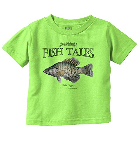 Brisco Brands Fish Tales White Crappie Fish Cool Graphic Infant Toddler T Shirt