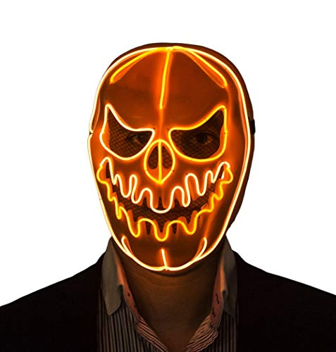 Mens Halloween Costume Ideas Yahoo (Halloween Masks Led Light Up Pumpkin Skull Mask)
