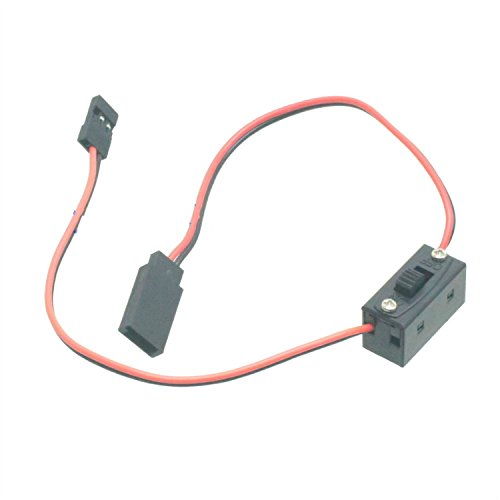 RC Switch Receiver Battery On Off with JR Futaba Lead Connectors & charge Lead