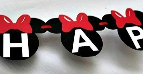 Minnie Mouse Banner - minnie mouse party - disney theme birthday - party supplies - mickey and friends ()