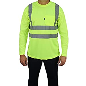 Kolossus 100% Polyester High Visibility Long Sleeve T-Shirt (S)