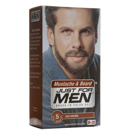 Amazon.com : Just For Men Brush-In Color Gel for Mustache & Beard ...