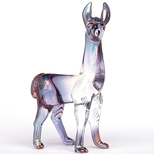 Llama Figurine of Hand Blown Glass