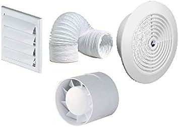 Kit de ventilador extractor para baño o ducha con temporizador ...