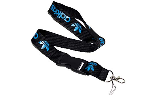 Black & Blue Logo Keychain Key Chain Black Lanyard Clip with Webbing Strap Quick Release Buckle (PCK-035