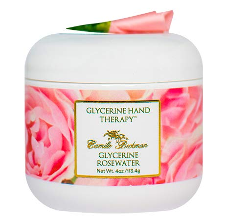 Camille Beckman Glycerine Hand Therapy Cream, Glycerine Rosewater, 4 Ounce (Shreveport Gardens)