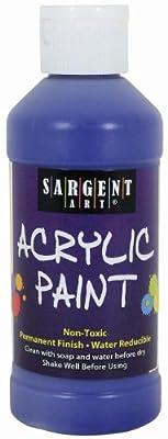 Sargent Art 22-2350 8-Ounce Acrylic Paint, Ultramarine Blue
