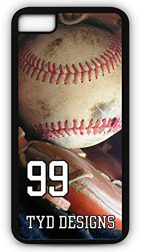 iPhone 8 Case Create Your Own Baseball Cactus League with Player Number and/Or Name Or Team Name Customizable by TYD Designs in Black Rubber