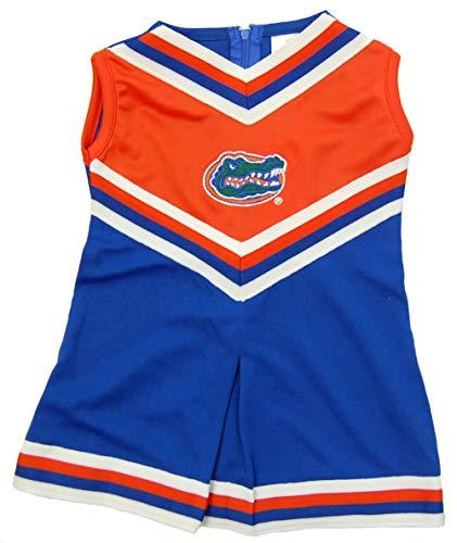 Little King NCAA Toddler/Youth Girls Team Cheer Jumper Dress-Florida ()