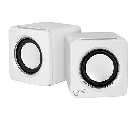 ARCTIC S111 M - Mobiles Mini-Soundsystem I Mini Speaker mit ü berzeugender Klangqualitä t fü r Smartphone, Tablet oder Laptop I Kraftvolle Bä sse und kompaktes Design - Lime SPASO-SP008LM-GBA01