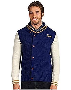 G Star RAW Hopewell Shawl Cardigan Knit, Swedish Blue, Size XXXL $170