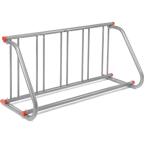 Global Industrial 61-5/8'L Grid Bike Rack, Single Sided, Powder Coated Galvanized Steel, 5-Bike...