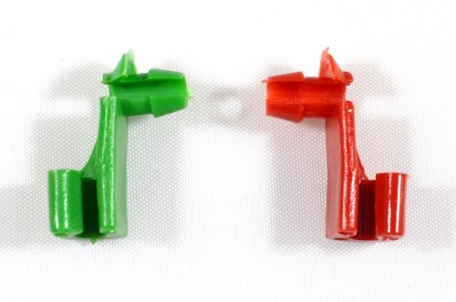 Door Lock Rod Clip (PT Auto Warehouse CPA3523-FTG - Outside Exterior Outer Door Handle/Tailgate Handle Rod Retainer Clips - 1pc Green (Replaces # 88981030), 1pc Red (Replaces # 88981031))
