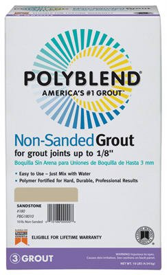 Polyblend Non-Sanded Colored Tile Grout Dry Sandstone