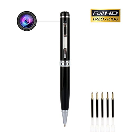 Bescar Multi-function Hidden Camera Spy Pen Camera -Full HD 1080P Video Camera Pen Loop Recording, Plug and Play to PC/Mac DVR Cam with Free 5 Black Refill by Bescar